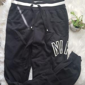 Nike Air Taper Leg Black and White Sweatpants
